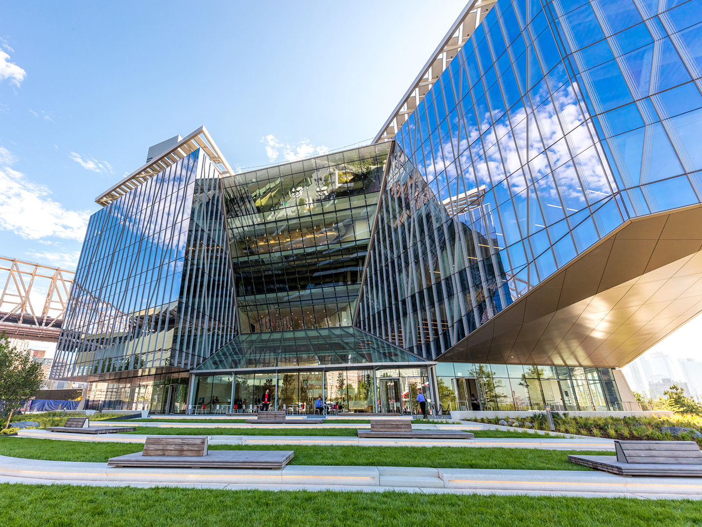 the TATA innovation center facade