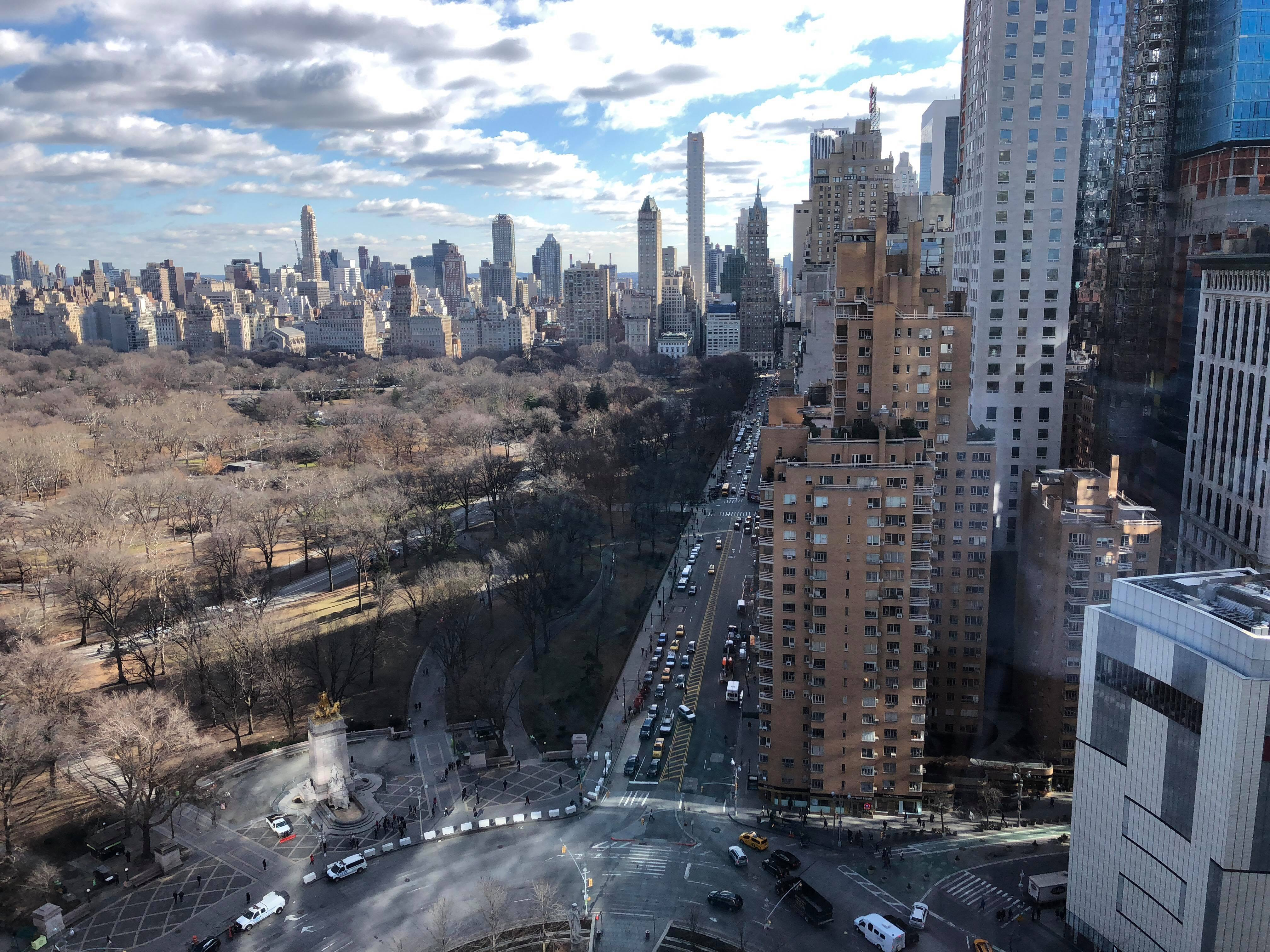 A portion of the beautiful 360-degree view of Central Park from Turner's cafeteria