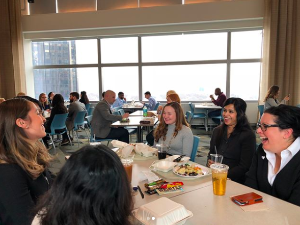 lunch with members of Ladies in Tech at Turner (LiTT)