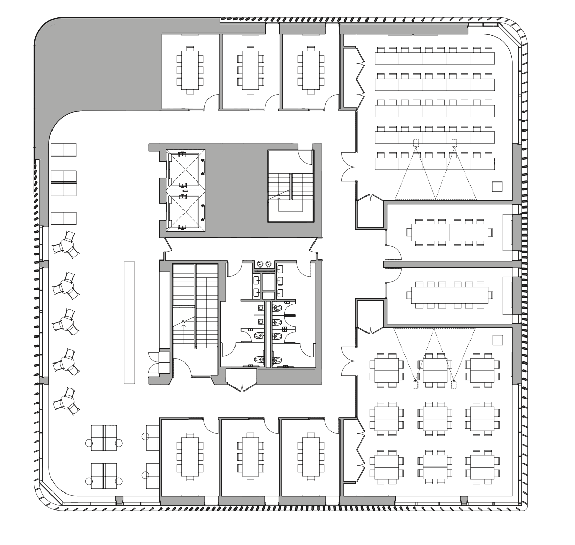 A diagram of a floorplan.