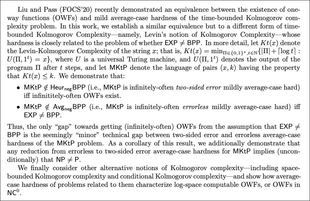 An excerpt from Rafael Pass' paper.