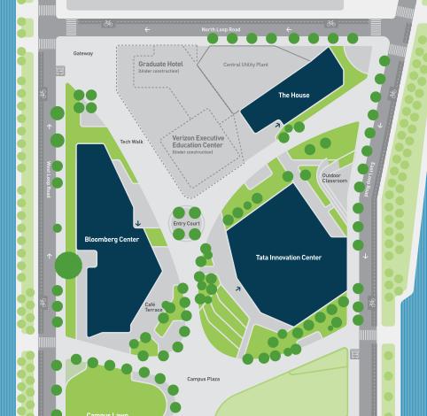 Roosevelt University Campus Map.Cornell Tech Visit Us